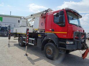 montážna plošina RENAULT KERAX 410.19 4x4 vysokozdvižná plošina, EURO 4, manuál VIN 487