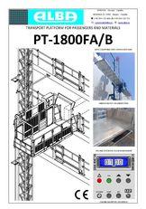 nová závesná lávka PT ALBA 1800FA/B